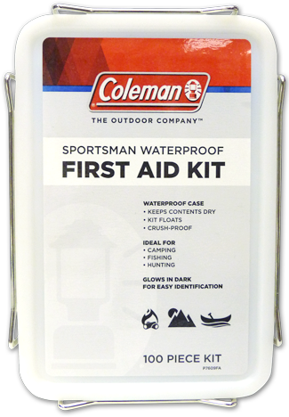Sportsman waterproof first aid kit coleman first aid for Kmart fishing license